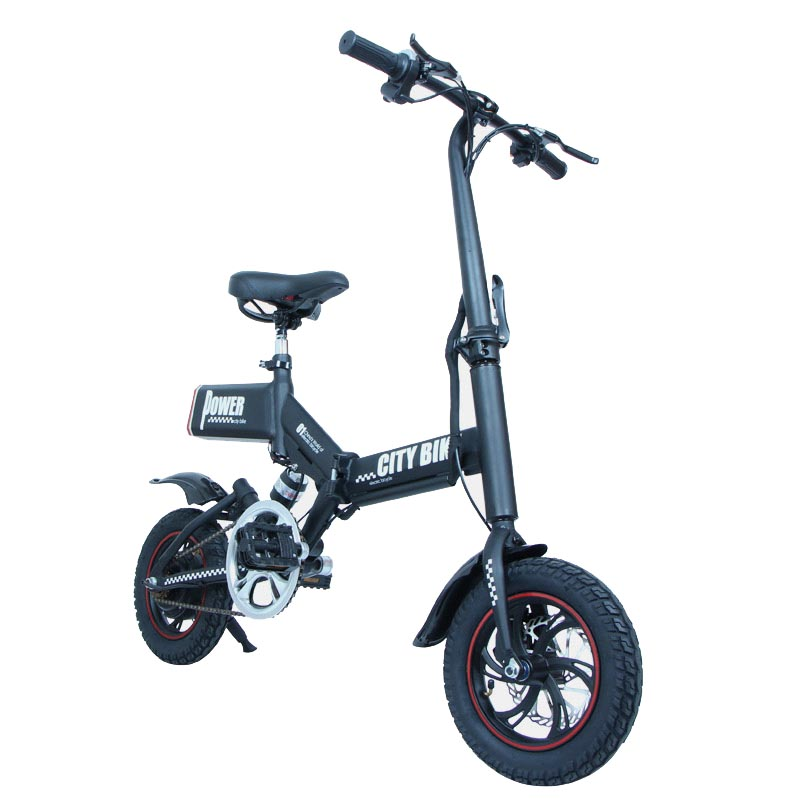 Giantplus-Electric Bicycle Reviews, Gs6 Mini Black Foldable Electric Bike