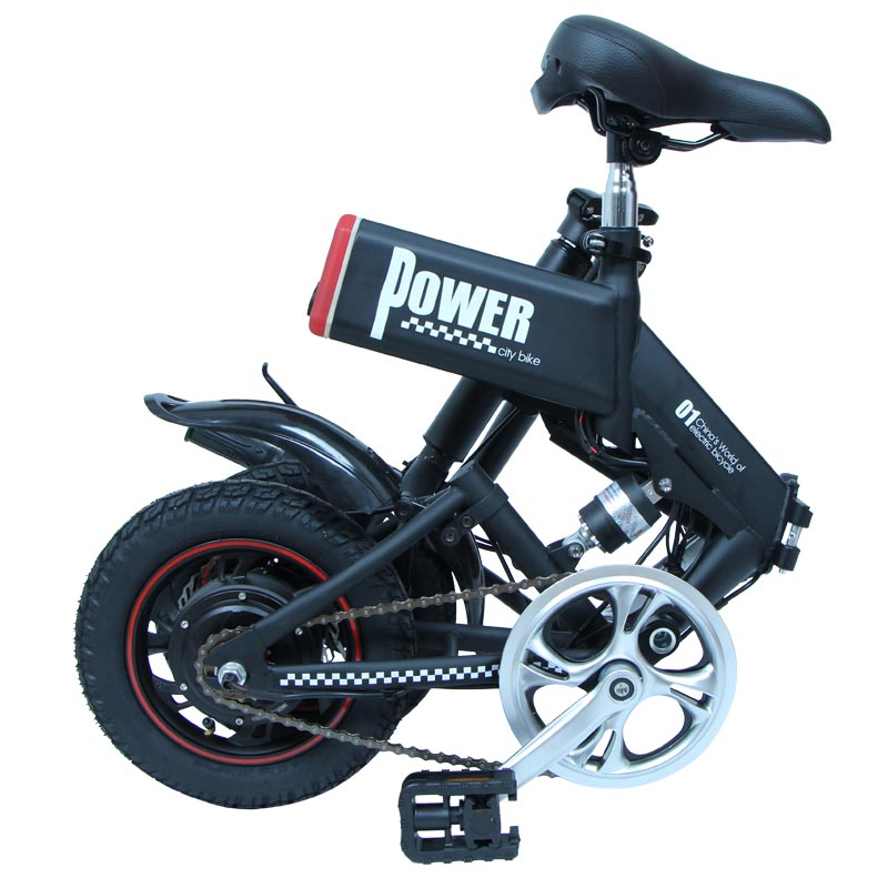 Giantplus-Electric Bicycle Reviews, Gs6 Mini Black Foldable Electric Bike-1